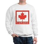 Canada with Red Maple Leaf Sweatshirt
