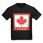 Canada with Red Maple Leaf Kids Dark T-Shirt