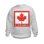 Canada with Red Maple Leaf Kids Sweatshirt
