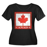 Canada with Red Maple Leaf Women's Plus Size Scoop