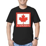 Canada with Red Maple Leaf Men's Fitted T-Shirt (d