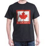 Canada with Red Maple Leaf Dark T-Shirt