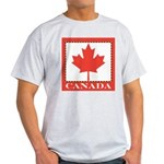 Canada with Red Maple Leaf Light T-Shirt