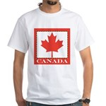Canada with Red Maple Leaf White T-Shirt