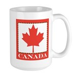Canada with Red Maple Leaf Large Mug
