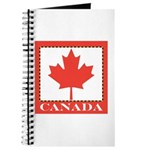 Canada with Red Maple Leaf Journal