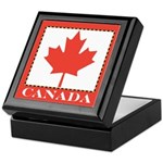 Canada with Red Maple Leaf Keepsake Box