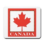 Canada with Red Maple Leaf Mousepad
