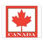 Canada with Red Maple Leaf Small Poster