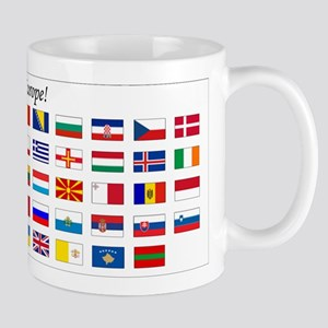 Europe Continent Flags Mug