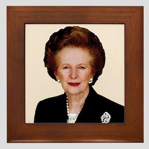 Lady Thatcher Framed Tile