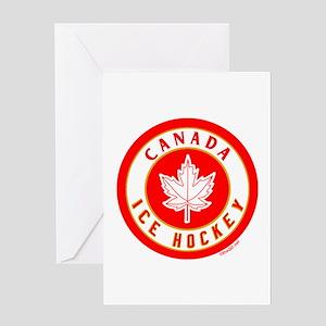 CA Canada Ice Hockey Gold Greeting Card