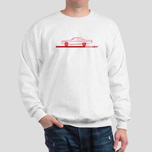 1966-67 Coronet Red Car Sweatshirt
