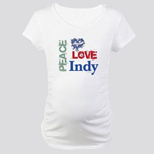 Peace Love Indy Maternity T-Shirt