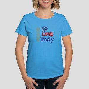 Peace Love Indy Women's Dark T-Shirt