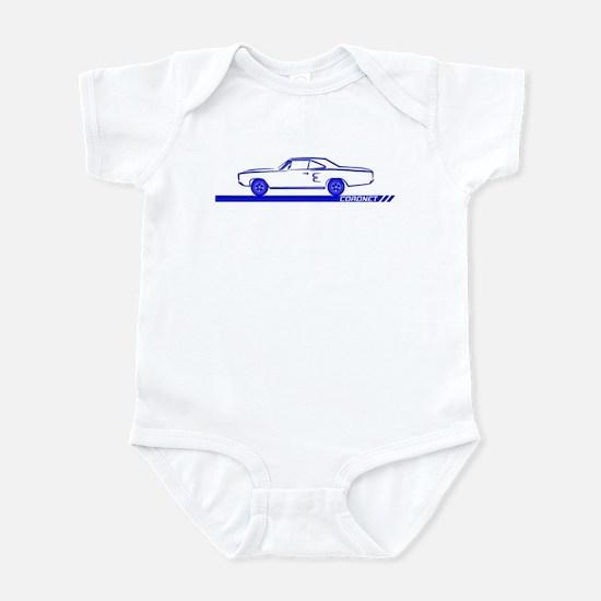 1968-69 Coronet Blue Car Infant Bodysuit