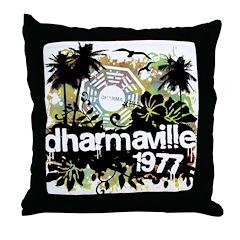 Dharmaville 1977 Throw Pillow
