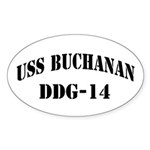 USS BUCHANAN Sticker (Oval)