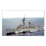 USS BUCHANAN Sticker (Rectangle)