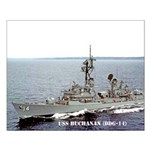USS BUCHANAN Small Poster