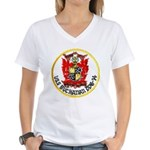USS BUCHANAN Women's V-Neck T-Shirt