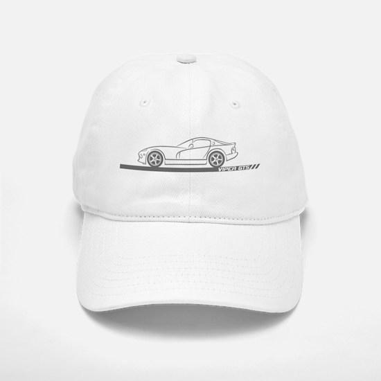 1996-02 Viper GTS Grey Car Baseball Baseball Cap