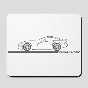 1996-02 Viper GTS Grey Car Mousepad