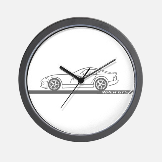 1996-02 Viper GTS Grey Car Wall Clock