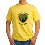 Love Your Earth Heart Yellow T-Shirt