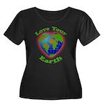 Love Your Earth Heart Women's Plus Size Scoop Neck