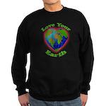 Love Your Earth Heart Sweatshirt (dark)
