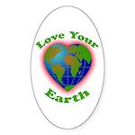 Love Your Earth Heart Sticker (Oval 50 pk)