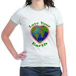 Love Your Earth Heart Jr. Ringer T-Shirt
