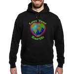 Love Your Earth Heart Hoodie (dark)
