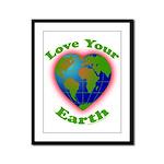 Love Your Earth Heart Framed Panel Print