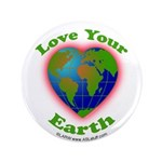 """Love Your Earth Heart 3.5"""" Button"""