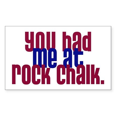 youhadmeatrockchalk Sticker