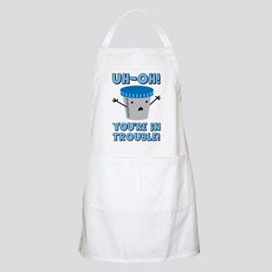 Funny Medical You're In Trouble Apron
