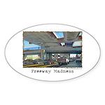 Freeway Madness Sticker (Oval 10 pk)