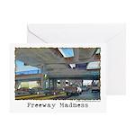 Freeway Madness Greeting Card