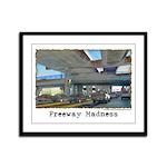 Freeway Madness Framed Panel Print