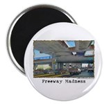 """Freeway Madness 2.25"""" Magnet (100 pack)"""