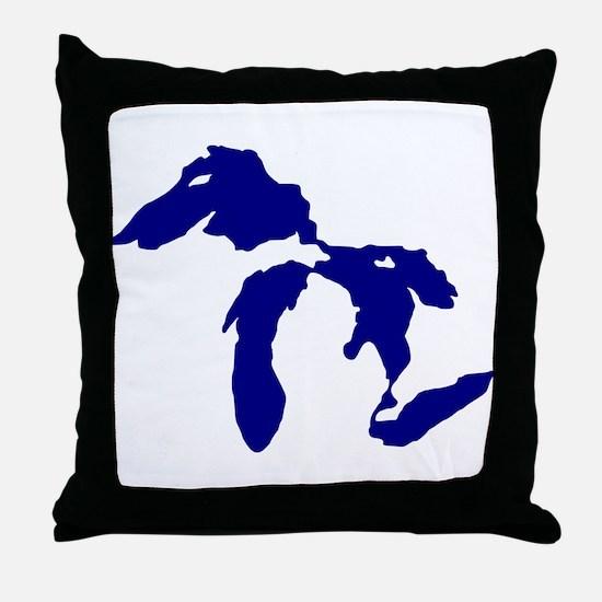 Great Lakes Throw Pillow