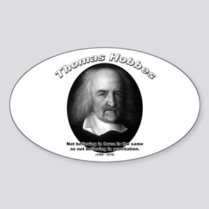 Thomas Hobbes 04 Oval Sticker
