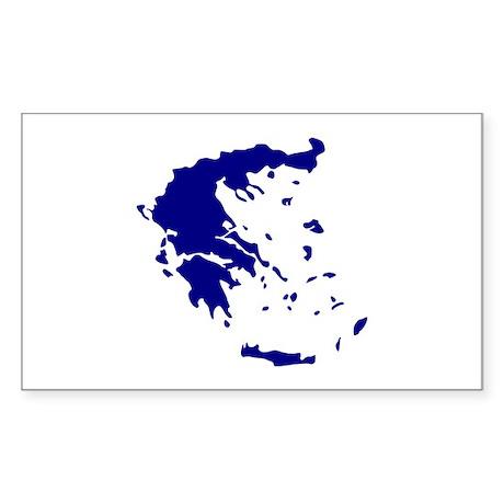 Greece Sticker (Rectangle 50 pk)