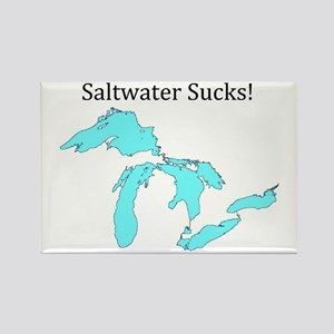 Saltwater Sucks! Rectangle Magnet (10 pack)