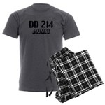 DD 214 Alumni Men's Charcoal Pajamas