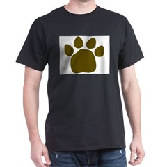 Brown paw Black T-Shirt