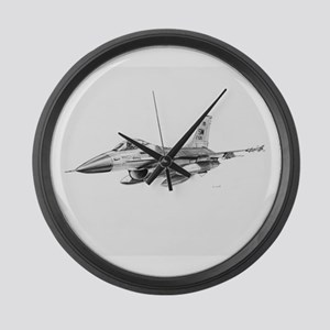 F-16 Pencil Prints by RKSmith Large Wall Clock