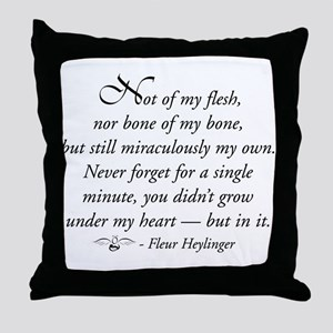 Not of my flesh Throw Pillow